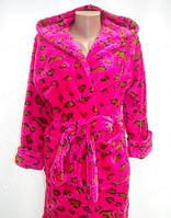 Короткий Махровый халат с принтом 5 цветов