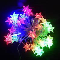Гирлянда Звёздочки LED 28 мульти