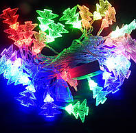 Гирлянда Ёлочки LED 28 мульти