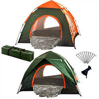 Палатка туристическая двойная 4чел 2*2*1.35м