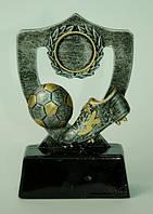 Статуэтка - Футбольный Кубок - Щит с бутсой и мячом, серебро