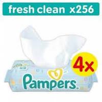 Влажные салфетки Pampers Baby Fresh Clean, 4x64 шт.