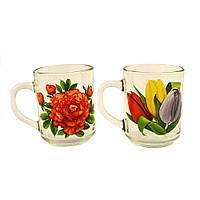"""Кружка чайная 240г. """"Цветы"""""""