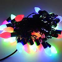 Гирлянда светодиодная Конусы L40 мульти гирлянда шарики уличная светодиодная новогодняя внешняя наружная.