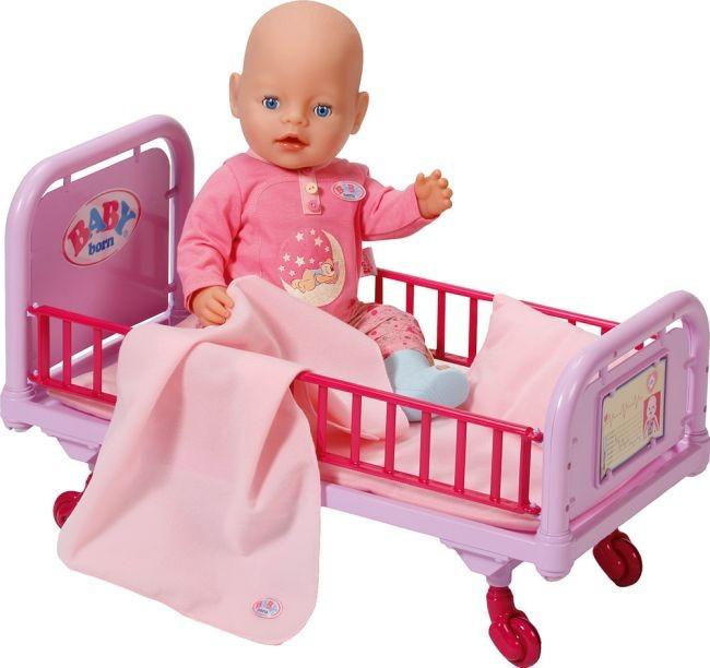 Кроватка для куклы Беби Борн больничная интерактивная Baby Born Zapf Creation 820247