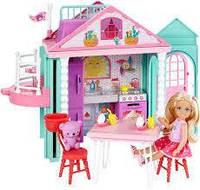 Барби сестры Barbie игровой набор Домик для Челси с лифтом Mattel DWJ50