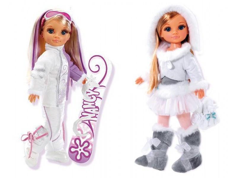 Кукла Нэнси Nancy в зимней одежде Фигуристка Famosa ...
