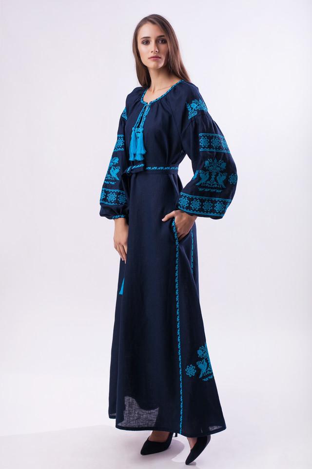 Платье вышиванка Волшебная птица