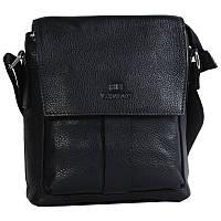 Мужская кожаная сумка через плечо черная от Итальянского бренда Lare Boss LB0065042-11
