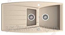 Кухонна мийка подвійна Ferro Mezzo 98x51 Пісок