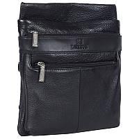 Практичная мужская кожаная сумка черная от Итальянского бренда Lare Boss LB0065058-41