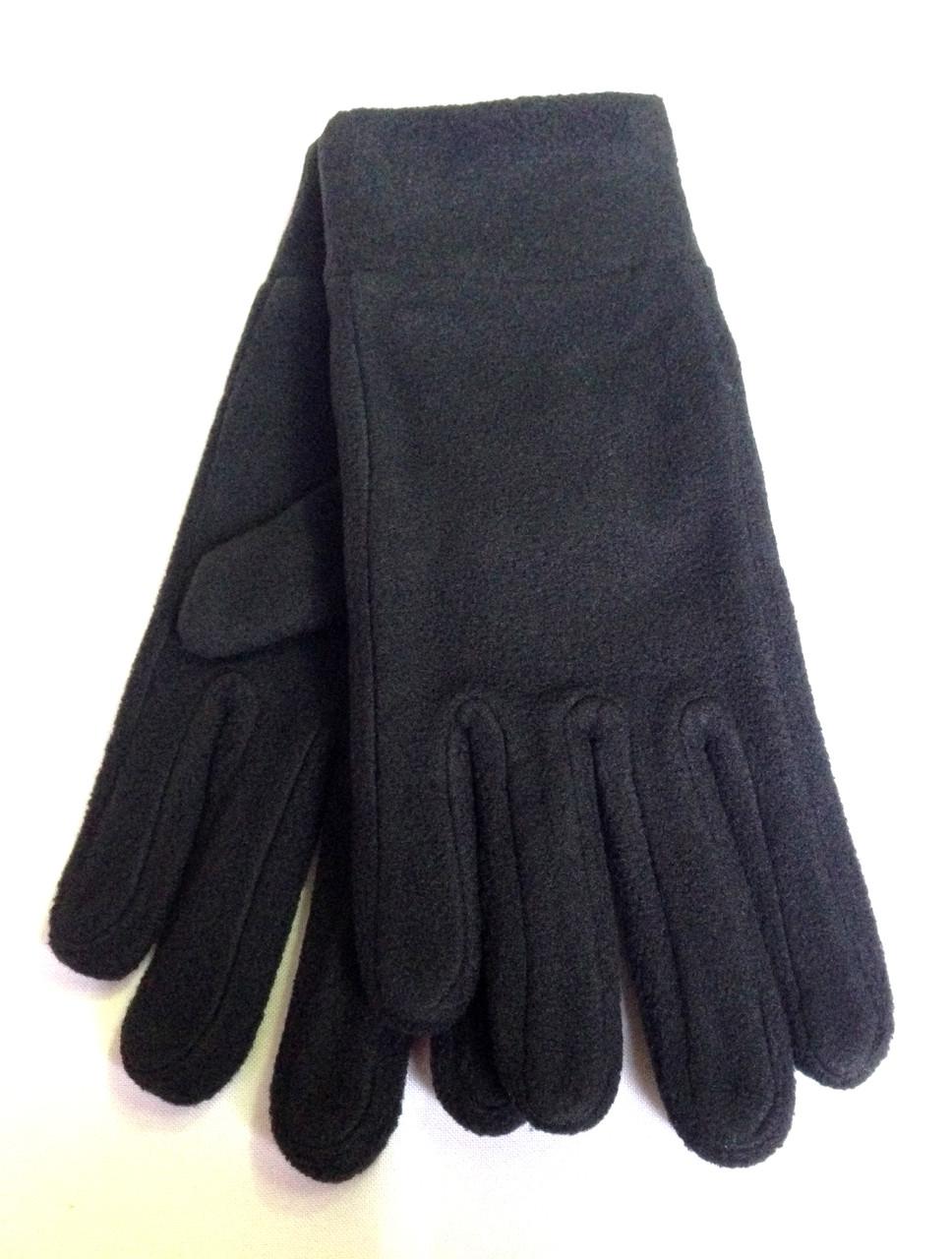 Флисовые перчатки, черные