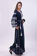 Длинное платье с вышивкой Волшебная птица, фото 1