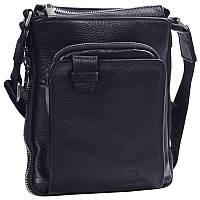 Необычная мужская кожаная сумка черная от Итальянского бренда Lare Boss LB0065165-11