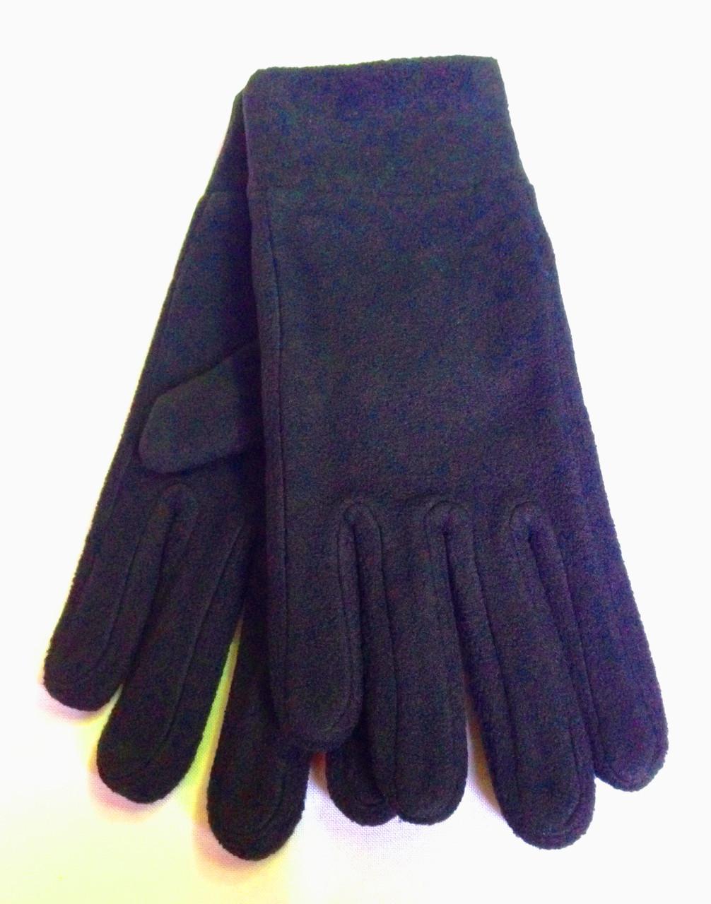 Флисовые перчатки, темно-синие