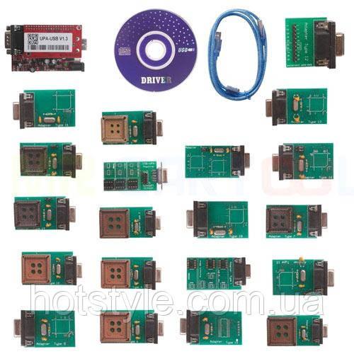 UPA USB V1.3 программатор чип-тюнинг авто EEPROM 19 адаптеров