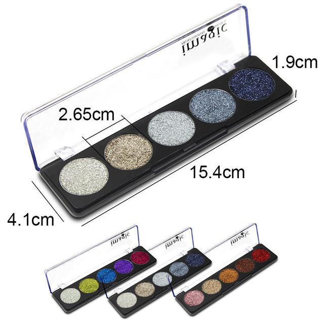 Палетка глиттеров Imagic Professional Cosmetics размер