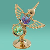 Фигурка Колибри с разноцветными кристаллами Сваровски 0006-001/GA