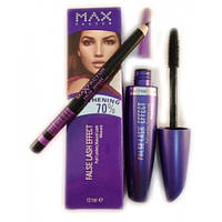 Тушь Max Factor False Lash Effect (фиолетовая туба) + карандаш