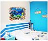"""Виниловая 3D наклейка на стену """"Жители моря"""""""