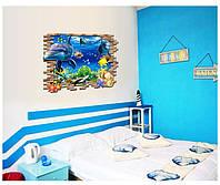 """Виниловая 3D наклейка на стену """"Жители моря"""", фото 1"""