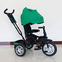 Велосипед трехколесный Turbo Trike M 3646A-4 поворотное сидение, надувные колеса, зеленый