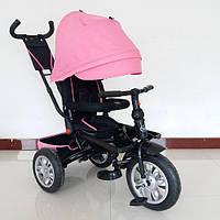 Велосипед трехколесный Turbo Trike M 3646A-15 поворотное сидение, надувные колеса, нежно розовый