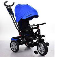 Велосипед трехколесный Turbo Trike M 3646A-10 поворотное сидение, надувные колеса,синий