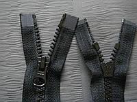 Молния   YKK. тракторная. на 2 бегунка  №8. цвет Чёрный. 70 см