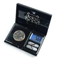 Мини-весы ювелирные атр-168 (6224ра), 200г / 0,01г, стильный дизайн, тарирование, подсветка дисплея, чехол