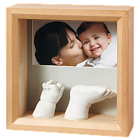 Рамочка Baby Art Sculpture Rounded Frame - natural, фото 1