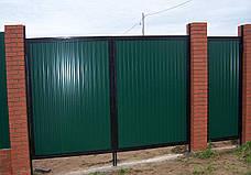Ворота распашные из профнастила, фото 2