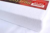 Простынь (наматрасник) на резинке из махры белая