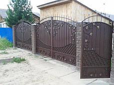 Металлические кованные ворота, фото 2