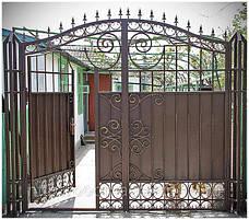 Металлические кованные ворота, фото 3