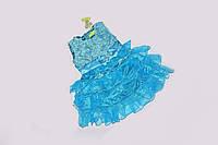 Детское пышное голубое  Платье Rorychen
