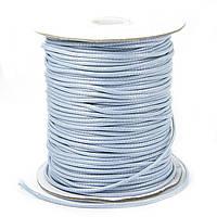 Шнур Вощеный Полиэстер, подходит для плетения браслетов, Цвет: Светло-серый, Размер: Толщина 2мм, 90м/катушка, (УТ100009880)