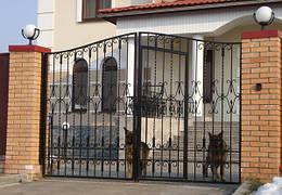 Металлические кованные ворота