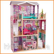 """Дом для кукол KidKraft Elegant 18"""" Doll Manor Кукольное поместье с мебелью 65830"""