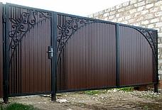 Ворота распашные из профнастила, фото 3