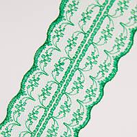 Кружево 4.5 см, рулон 10 м Зеленое