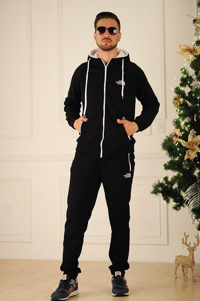 Мужской зимний спортивный костюм штаны и куртка с капюшоном, серия он и она