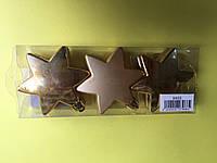 Игрушка новогодняя звезда 8 см 6 шт, фото 1