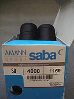 нитки Amann Saba ( Германия) № 80 цвет 4000( черный) 1000 м.