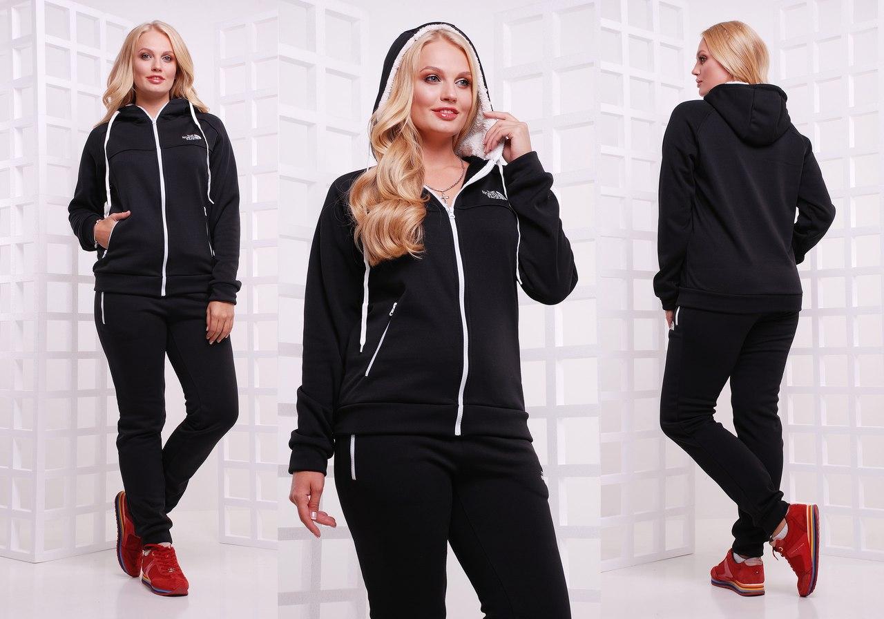 Женский  зимний спортивный костюм штаны и куртка с капюшоном, серия он и она, батальные размеры