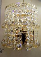 Бра хрустальное на 2 лампочки с LED подсветкой  P5 - 0171-2w (FG+AM)