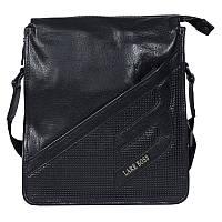 Мужская сумка из натуральной кожи черная Итальянского бренда Lare Boss LB0068002-41