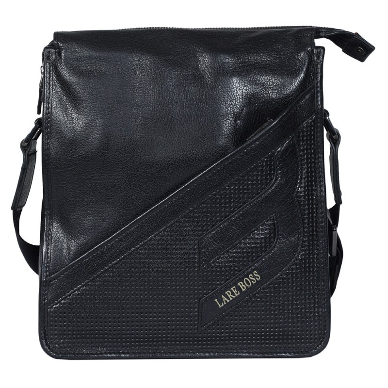 fabe37bba80a Мужская сумка из натуральной кожи Lare Boss 68002-4 Черная - АксМаркет в  Киеве