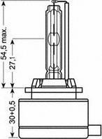 Лампа ксеноновая D1R XENARC ORIGINAL 85В, 35Вт, P32d-3 5000K (пр-во OSRAM), OSRAM