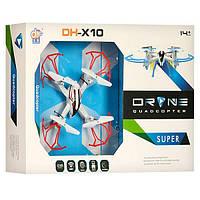 Квадрокоптер DH861-X10, на радиоуправлении 2,4G, запас. лопасти, свет, usb зарядка. дрон на р/у